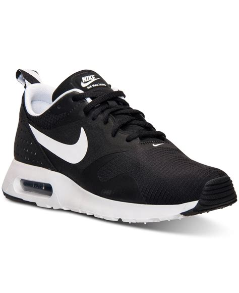 mens black nike sneakers lyst nike s air max tavas running sneakers from