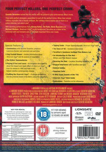 se filmer reservoir dogs gratis reservoir dogs 2 disc import dvd discshop se