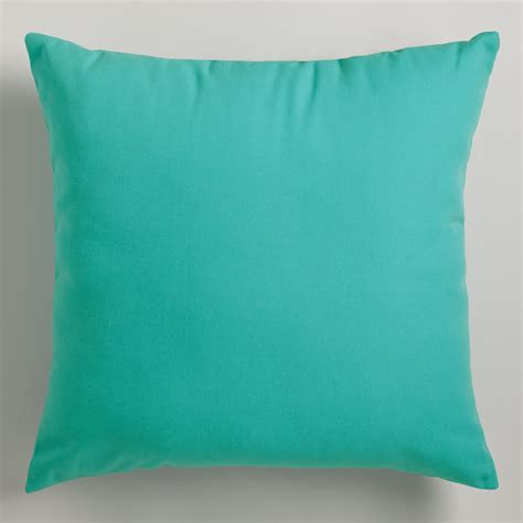 Aqua Pillow aqua outdoor throw pillows world market