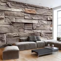 steinwand tapete wohnzimmer die besten 25 steinoptik wand ideen auf