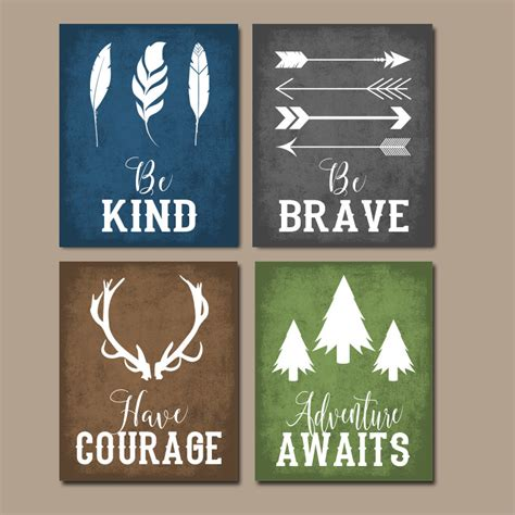 Country Themed Kitchen Ideas woodland quote wall art canvas or print boy nursery decor