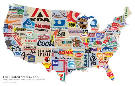 map of us what states are known for jeff patterson the united states of inc