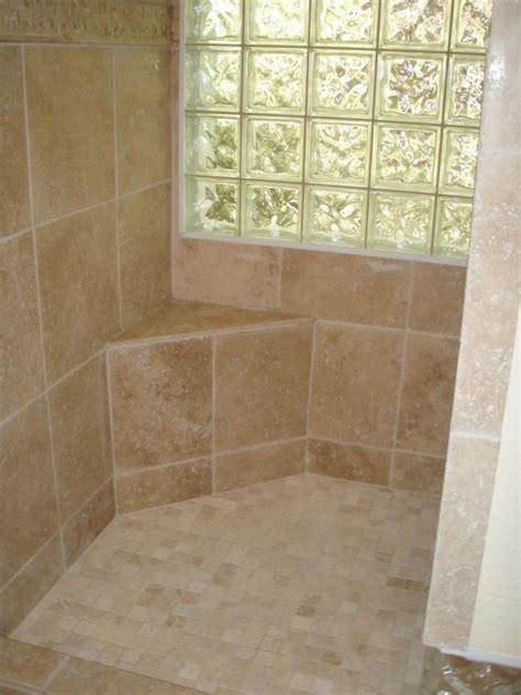 custom tile seat in a walk in shower showers pinterest