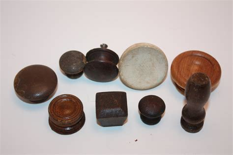 Wooden Drawer Knobs Vintage Lot Of 9 Upcycled Recycled Wooden Wood Knobs