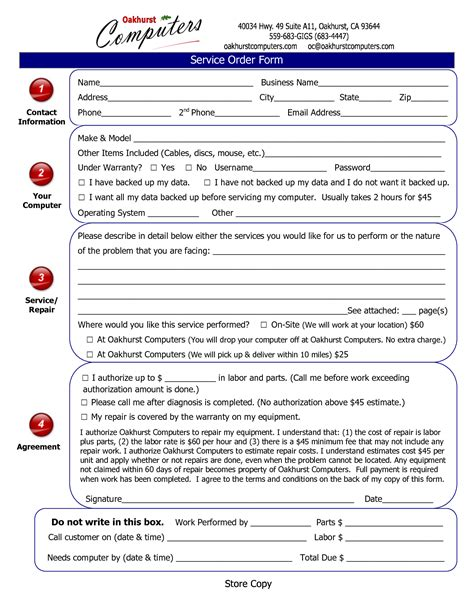 computer repair contract template best photos of computer repair form template dental