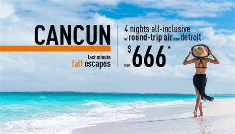 detroit to cancun all inclusive vacation packages the best deals from vacation express