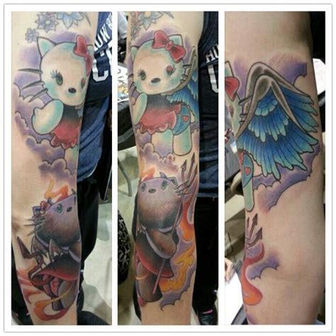 new school hello kitty tattoo galleries new school tattoos cartoon custom wings