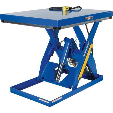 vestil scissor lift table rotary air hydraulic 48in l x
