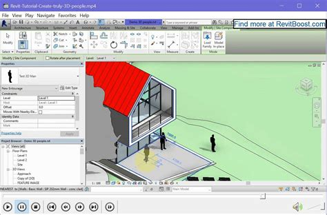 revit tutorial creating families create truly 3d revit people families rv boost
