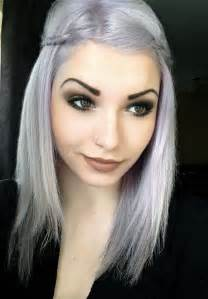 gray hair young women with gray hair violet silver hair on young