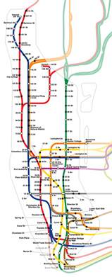Subway Map Ny by Schematic Subway Map Of Manhattan Manhattan Schematic