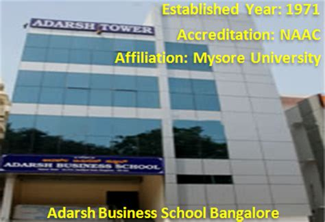 Adarsh Mba College Bangalore Review by Top B Schools In Bangalore List Top Mba Colleegs