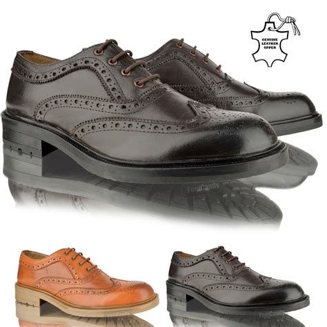 Black Master Original Casual Shoes Work Office Casual mens lambretta smart casual leather lace up brogue office
