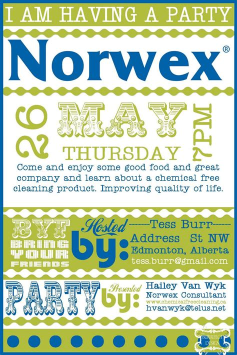 Norwex Party Invitation Norwex Party Invitation With A Beautiful Invitations Specially Designed Norwex Invitation Template To