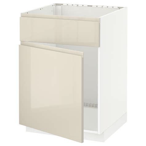 ikea kitchen base cabinets metod base cabinet f sink w door front white voxtorp high