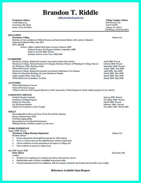 Free Resume Samples In Pdf by College Senior Resume Best Resume Collection