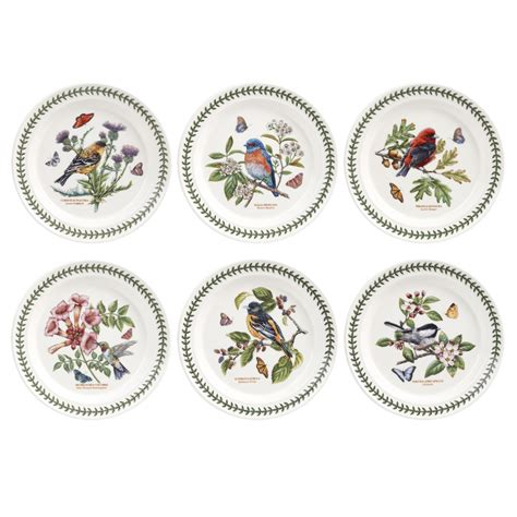 Botanic Gardens Portmeirion Portmeirion Botanic Garden Birds Plate 10 Inch Set Of 6 Portmeirion Uk