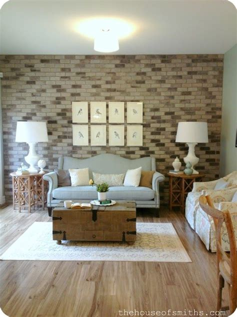 Living Room Brick Accent Wall Accent Wall Ideas Decoration Ideas