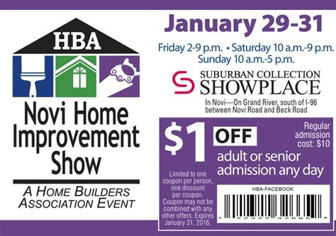28 home design and remodeling show promotional code