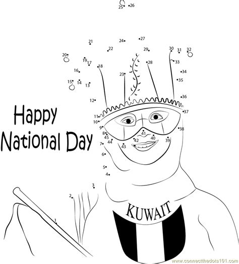coloring pages for uae national day connect the dots national day festival holidays