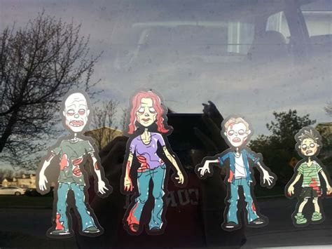 Car Sticker Zombie by Zombie Family Stickers Zombie Car Stickers