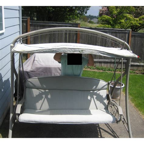 Patio Swing At Costco Replacement Canopy For Swing 792657 Garden Winds