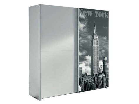 Armoire Nyc Armoire 2 Portes Coulissantes