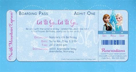 printable frozen birthday party invitations 8 best images of frozen birthday invitations printable