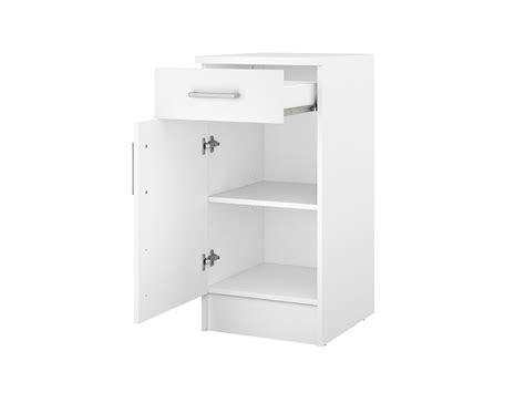 porta ludovica element bas 1 porte 1 tiroir ludovica blanc
