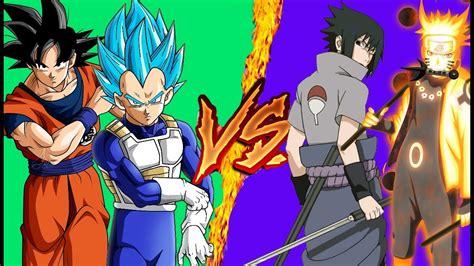 imagenes de naruto vs goku rap goku y vegeta vs naruto y sasuke rap a mi estilo youtube