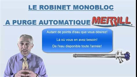Robinet Antigel Fonctionnement by Le Robinet Mural Ext 233 Rieur Antigel Merrill