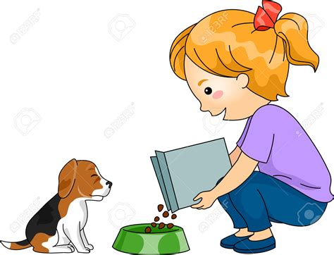 feeding puppy pice clipart feed pencil and in color pice clipart feed