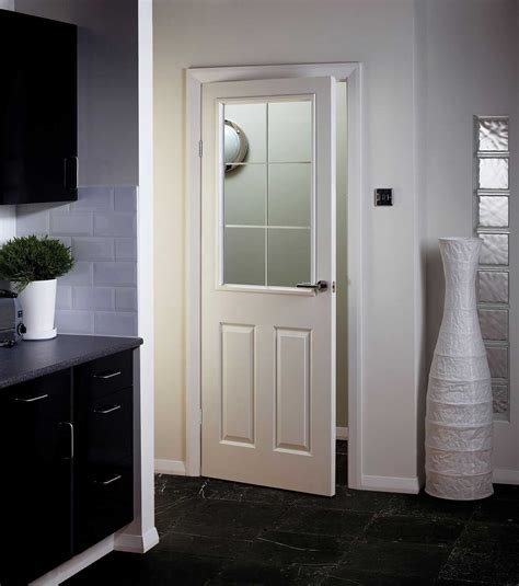 Interior Door With Half Glass by Manhattten Half Light Textured White Primed Door