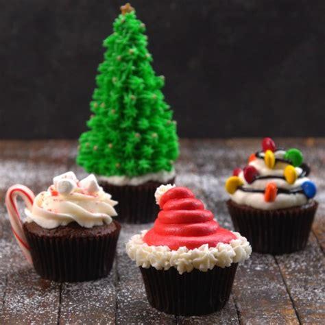 decorative christmas cupcakes recipes video tiphero