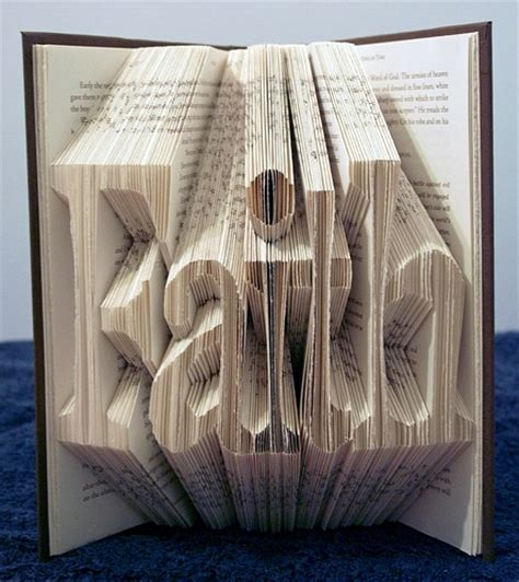 How To Do Book Origami - book origami typography the ultimate inspiration bit rebels