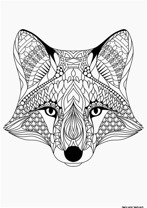 fox mandala coloring page fox pattern cool coloring pages online free girls mandala