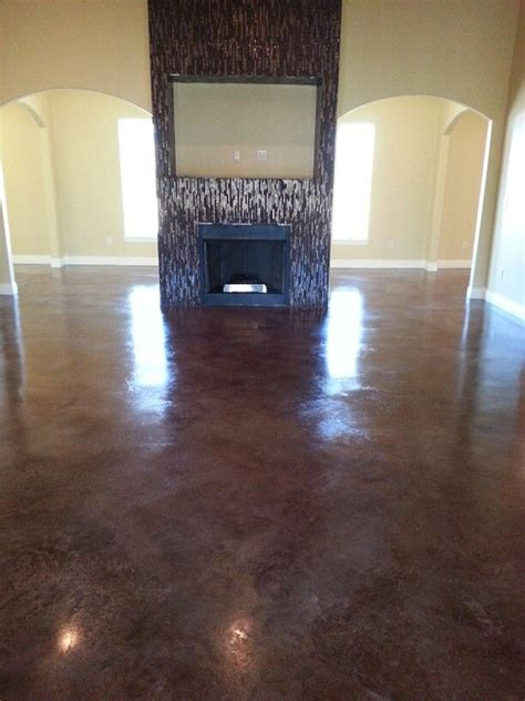 stained concrete living room floors building a new home your living room could look this rich with walnut stain floors give