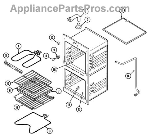 Chef Cooktop Spare Parts - parts for magic chef 9522xub oven parts