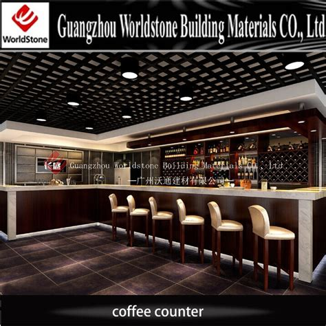 Customized Design Coffee Shop Artificial Marble Counter