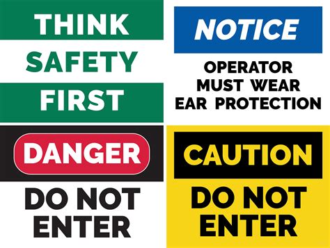 free safety sign templates free safety sign template in adobe photoshop illustrator