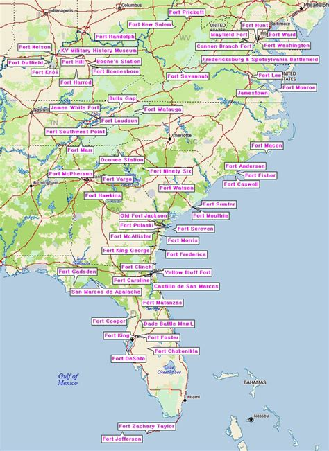 road map south east usa southeast highway map pictures to pin on pinsdaddy