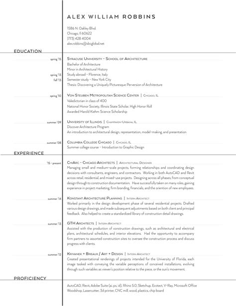 Architecture Resume by Gallery Of The Top Architecture R 233 Sum 233 Cv Designs 12
