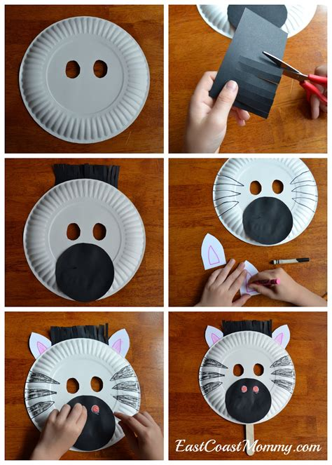 How To Make Animal Mask With Paper Plate - east coast alphabet crafts letter z