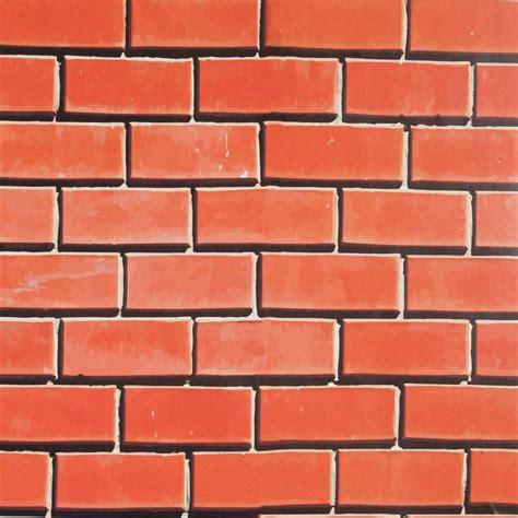 desenho parede papel de parede tijolo desenho laranja 011 papeldecor br