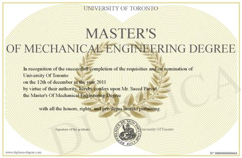 Mechanical Engineering Related Mba Courses by Master S Of Mechanical Engineering Degree