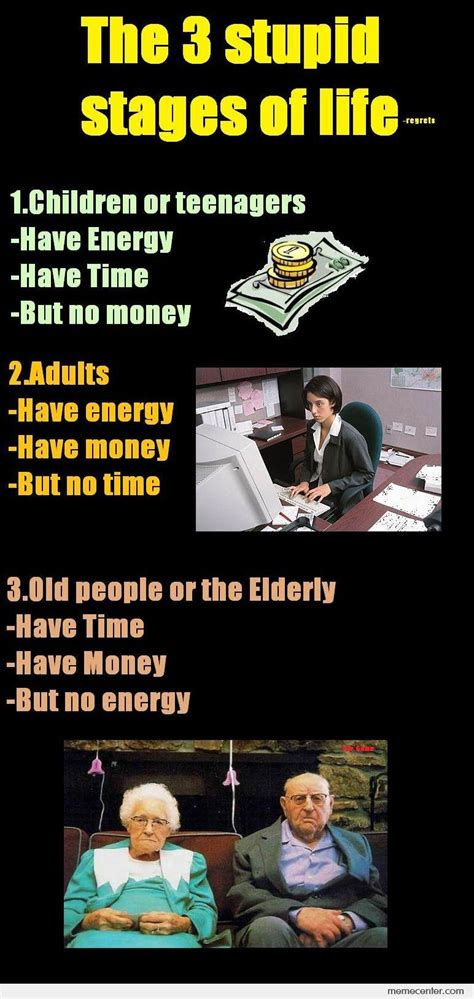 3 Stages Of Life Meme
