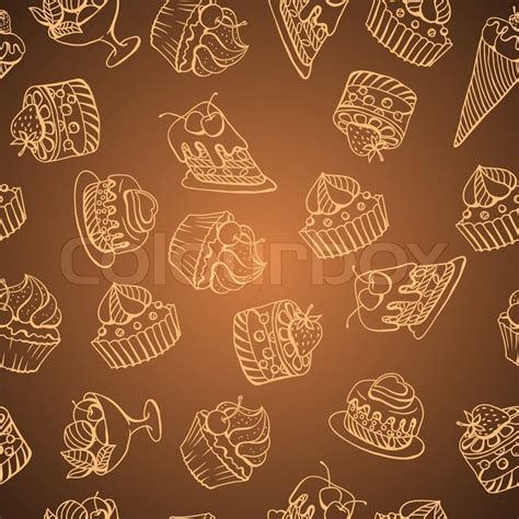 cake background pattern vector vector background with of cake in retro style seamless
