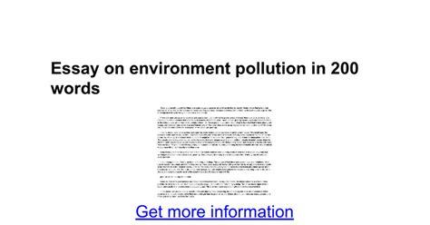 environment pollution essay essay on environmental