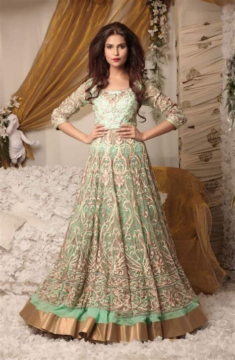Wedding Clothes by Mint Green Indian Bridal Wedding Clothes