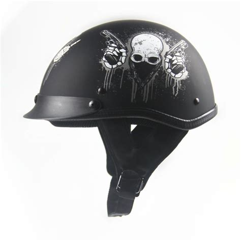 Open Retro Cycling Motorcycle Skull Helmet dot approved helmet motorcycle engine open means personality retro vintage vespa scooter